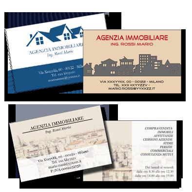 Biglietti da visita for Arredamento per agenzia immobiliare